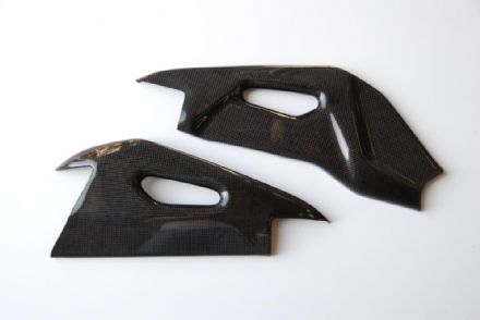 LighTech Carbon Fibre Swingarm Protection Aprilia Tuono V4 2011>